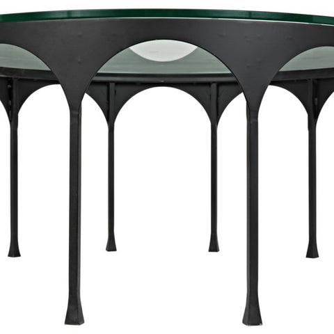 Achille Coffee Table in Black Metal by Noir