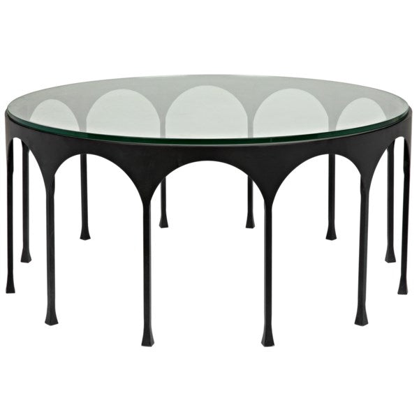 Achille Coffee Table in Black Metal