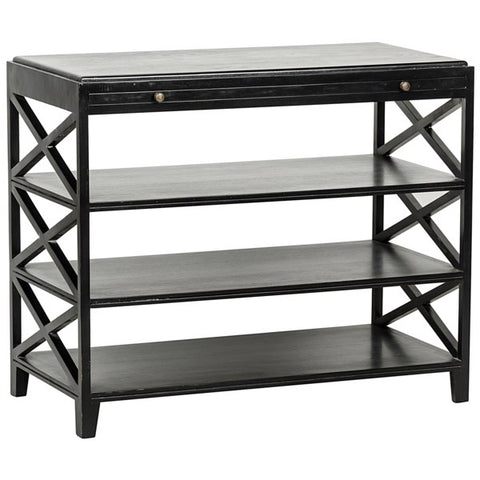 Sutton Criss-Cross Table in Various Colors by Noir