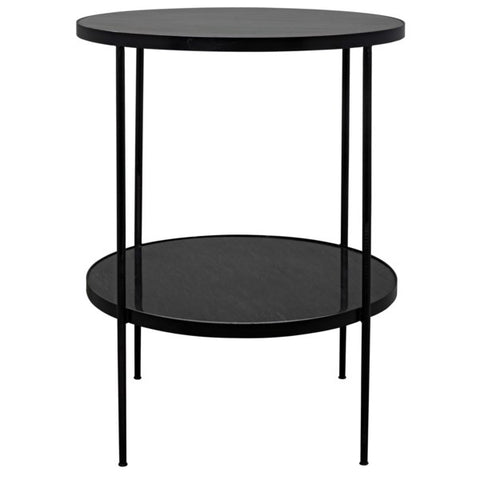 Rivoli Side Table in Various Colors by Noir