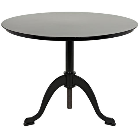Calder Side Table in Black Metal by Noir