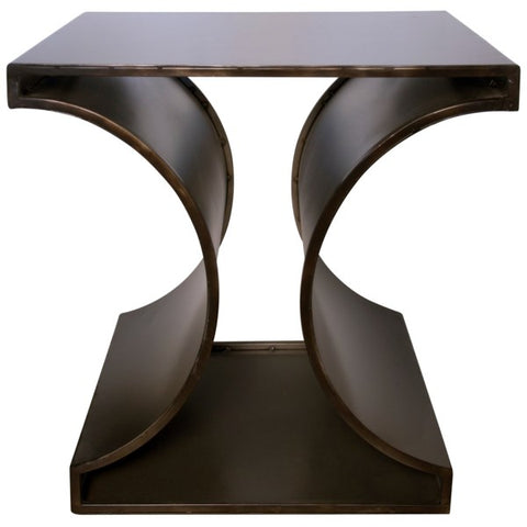 Alec Side Table in Black Metal by Noir