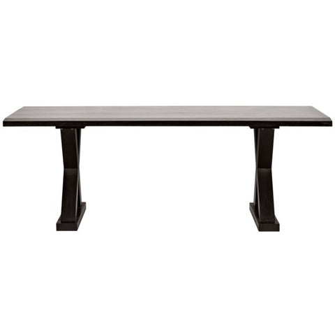X Dining Table in Hand Rubbed Black by Noir