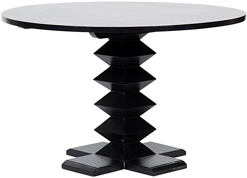 "Zig-Zag Base 48"" Dining Table by Noir"