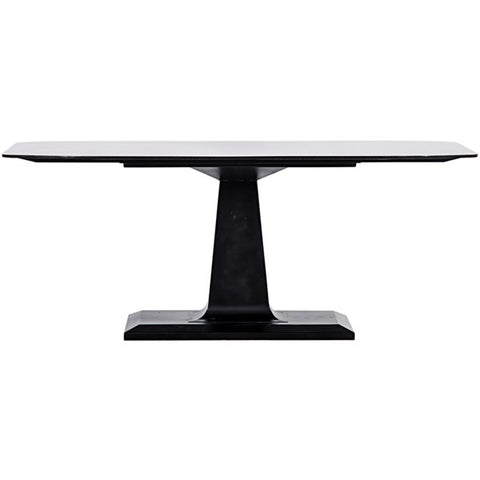 Amboss Dining Table in Black Metal by Noir