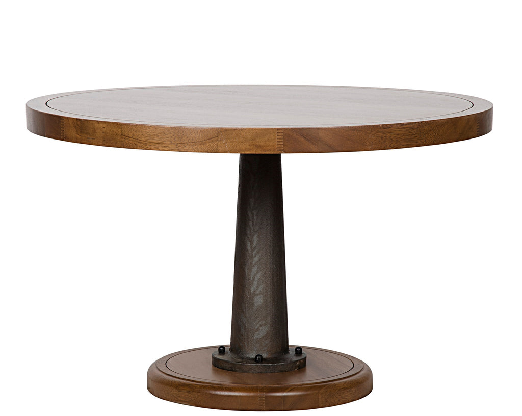 Yacht Dining Table with Cast Pedestal in Various Colors