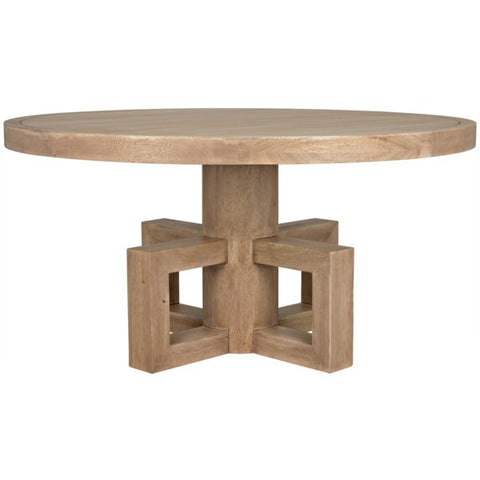 Lima Dining Table in Washed Walnut by Noir