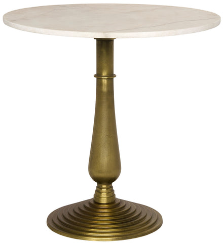 Alida Side Table with White Stone by Noir