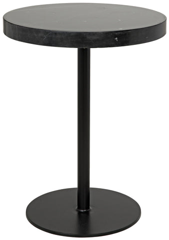 Ford Stone Top Side Table in Various Sizes by Noir