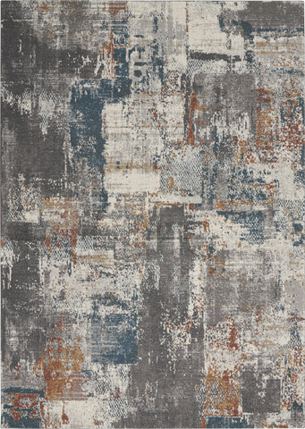 Tangra Rug in Grey & Multi by Nourison