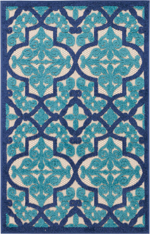 Aloha Indoor-Outdoor Rug in Navy by Nourison