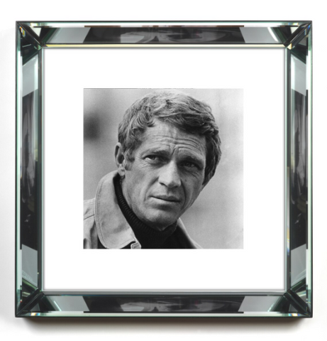 Steve McQueen in Black and White Print