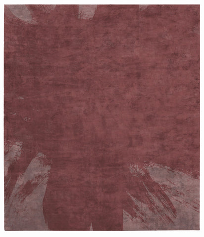 Hanjiro Boogie Hand Tufted Rug in Red design by Second Studio
