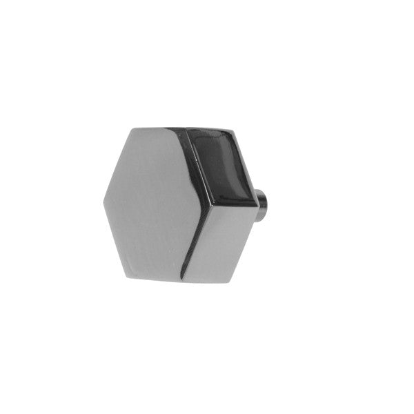 Hex Hexagon Shaped Pull in Nickel Finish design by BD Studio