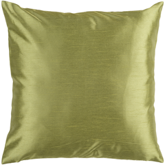 Solid Luxe Olive Pillow