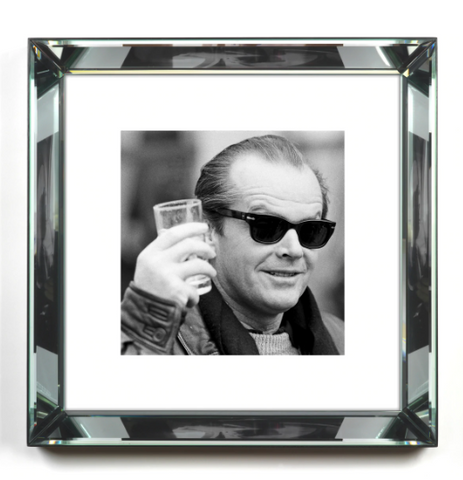 Jack Nicholson in Black and White Print