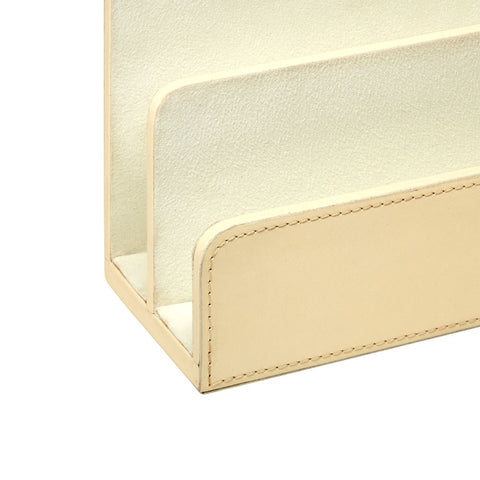 Hunter Letter Caddy in Ivory design by Bungalow 5