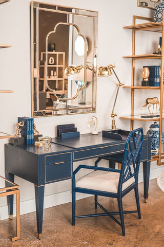 Hunter Desk in Navy Blue by Bungalow 5