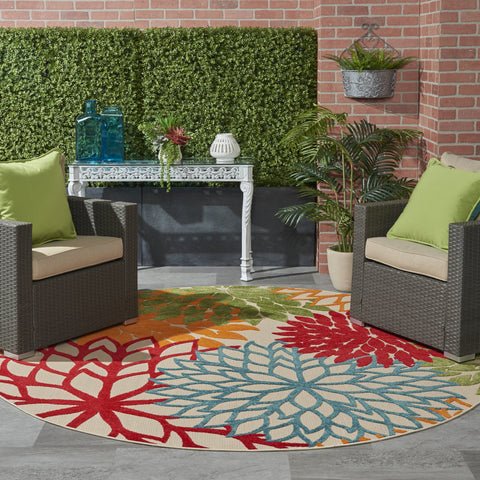 Aloha Indoor-Outdoor Rug in Green by Nourison