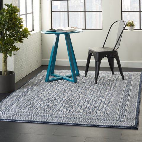 Palermo Rug in Blue/Grey by Nourison