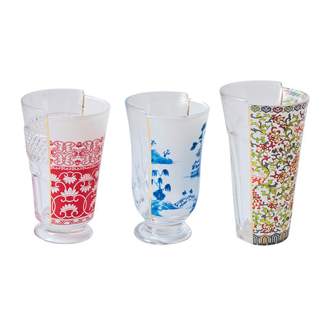 Hybrid-Clarice Set of 3 Drinking Glasses design by Seletti