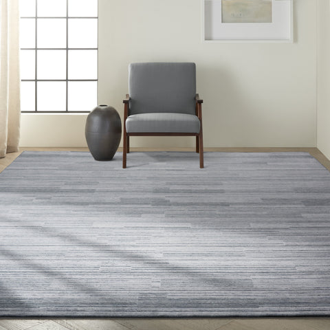 Abyss Rug in Blue by Calvin Klein