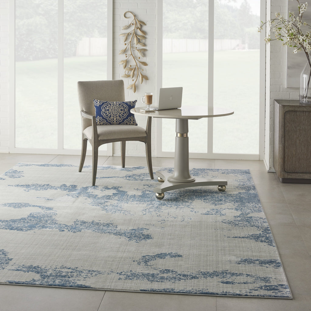 Etchings Rug in Ivory/Light Blue by Nourison