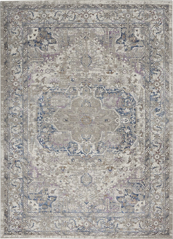 Royal Terrace Rug in Ivory & Multi by Kathy Ireland