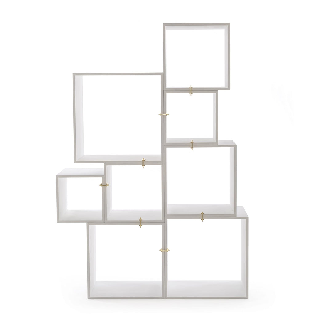 Assemblage Modular Bookcase in White by Seletti
