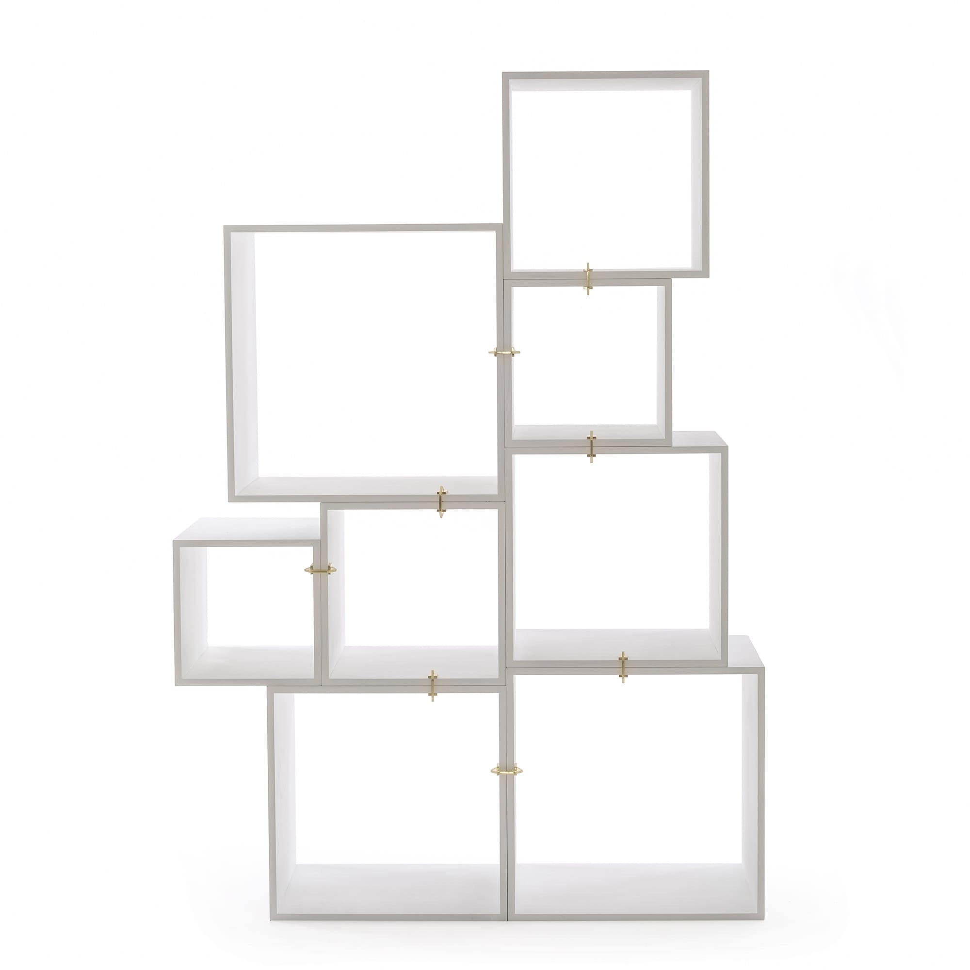 Superbe Assemblage Modular Bookcase In White By Seletti
