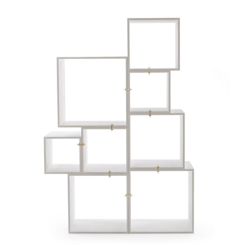 Assemblage Modular Bookcase in White