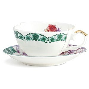 Hybrid-Isidora Porcelain Tea Cup w/ Saucer design by Seletti