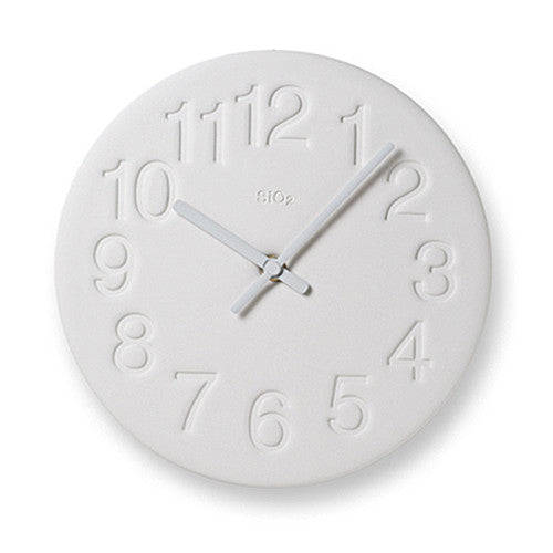 Earth Wall Clock in White design by Lemnos
