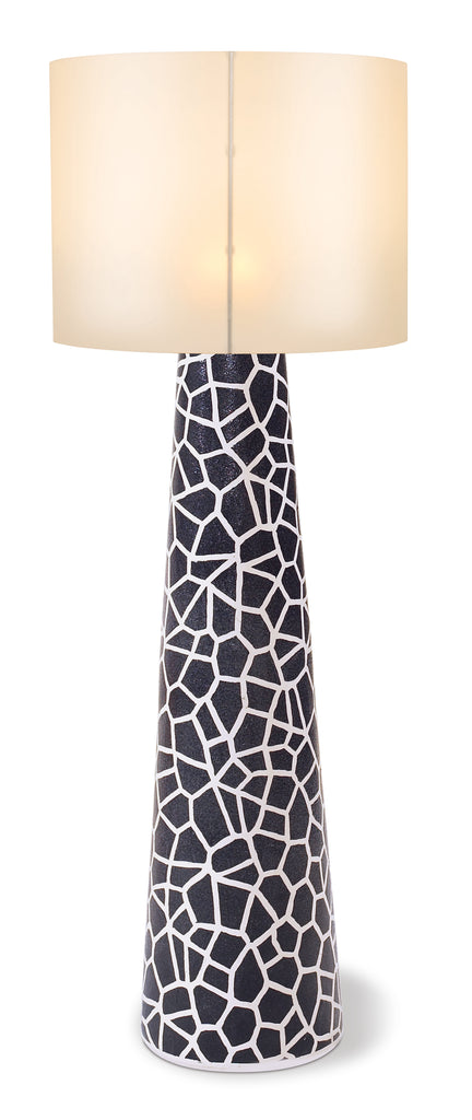 Inda Copenhagen Artisan Series Ceramic Cordless Outdoor LED Floor Lamp w/ Various Shades by BD Outdoor