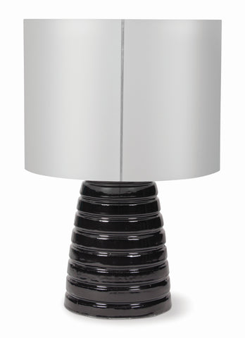 Inda Ribbon Ceramic Cordless Outdoor LED Table Lamp in Various Colors & Shades by BD Outdoor