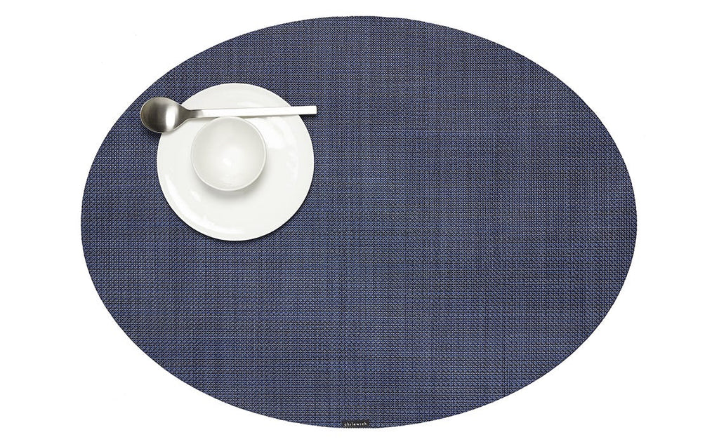 Mini Basketweave Oval Placemat in Various Colors