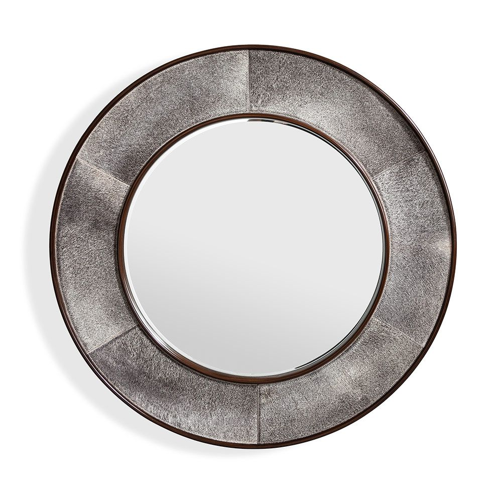 Irina Round Mirror in Grey by Interlude Home