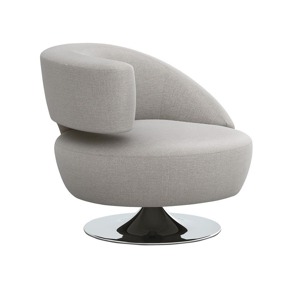 Isabella Swivel Left Chair in Various Colors by Interlude Home