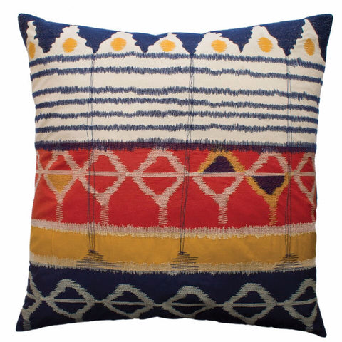 Java Embroidered Pillow Design by Koko & Co
