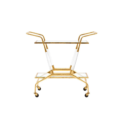 Jepson Bar Cart in Gold design by Bungalow 5