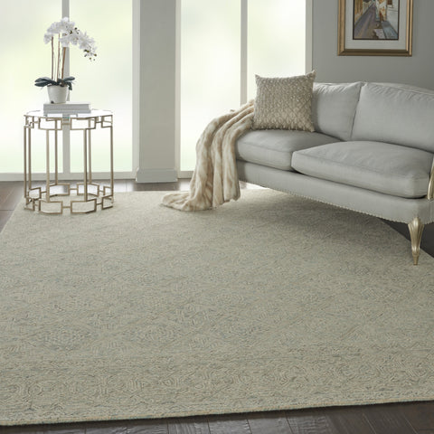 Azura Rug in Ivory/Grey/Teal by Nourison