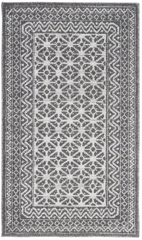 Palermo Rug in Charcoal/Silver by Nourison