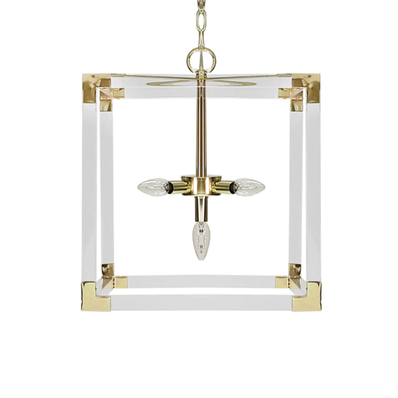 Square Acrylic Pendant in Various Colors