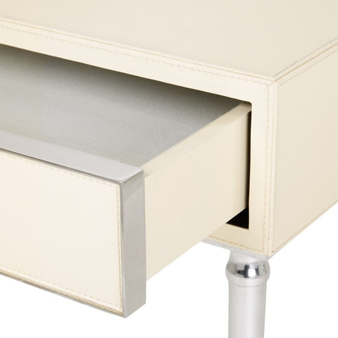 Jolene 1-Drawer Side Table in Ivory by Bungalow 5