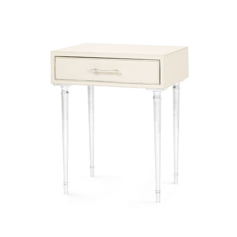 Jolene 1-Drawer Side Table in Ivory design by Bungalow 5