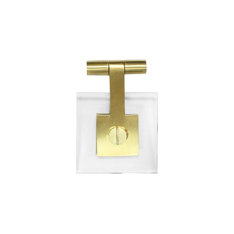 Jonah Square Hardware Pull in Antique Brass design by BD Studio