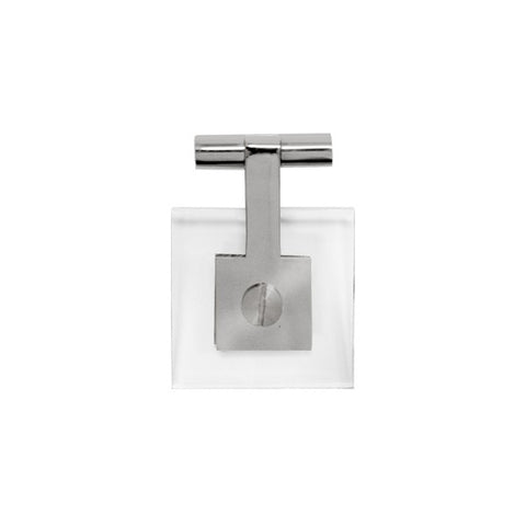 Jonah Square Hardware Pull in Nickel design by BD Studio