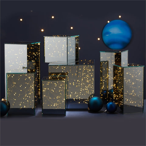 Cityscape 7 Pc LED Light Up Glass Box Decor design by Tozai