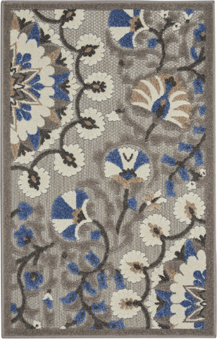 Aloha Indoor-Outdoor Rug in Grey & Multi by Nourison