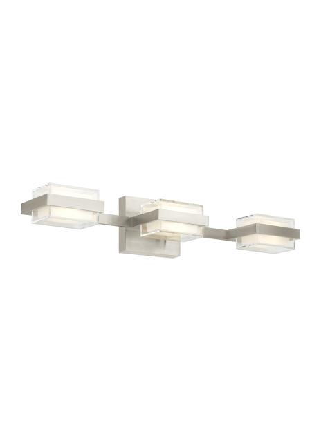 LED 90 CRI 3000K 277V 3 Shallow Kamden 3-Light Bath by Tech Lighting